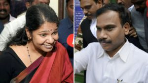 Kanimozhi and A Raja, at the 2G Scam Trial Judgement (21 December 2017) (CBI Special Court, New Delhi)